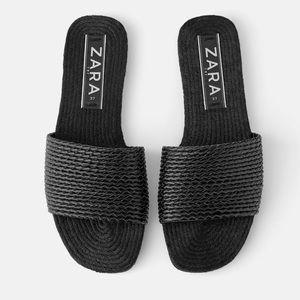 NWT Zara Woven Flat Sandal